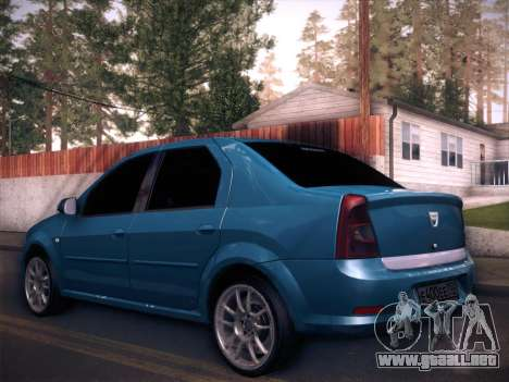 Dacia Logan GrayEdit para GTA San Andreas left