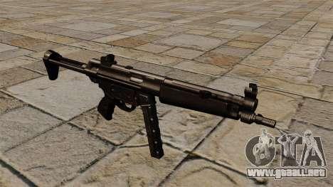 Subfusil MP5 negro acosador para GTA 4
