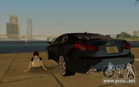 Lexus IS-F para GTA Vice City vista superior