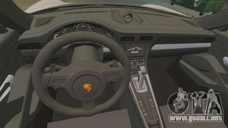 Porsche 911 Turbo 2014 [EPM] TechArt Design para GTA 4 vista hacia atrás