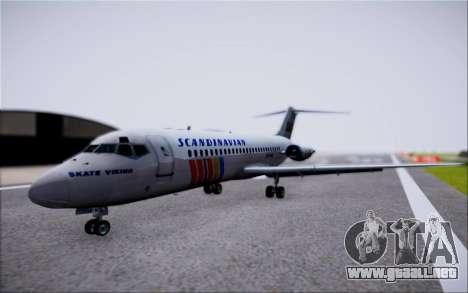 McDonnel Douglas DC-9-10 para GTA San Andreas vista hacia atrás