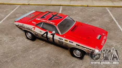 Dodge Challenger 1971 v1 para GTA 4 vista desde abajo