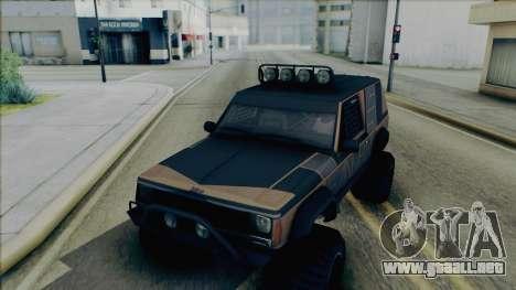 Jeep Cherokee 1984 Sandking para visión interna GTA San Andreas