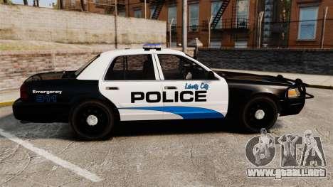 Ford Crown Victoria Police Interceptor [ELS] para GTA 4 left