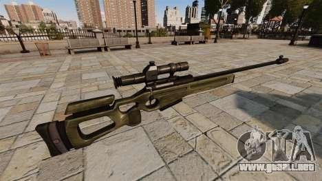 Rifle de francotirador SV-98 para GTA 4 segundos de pantalla