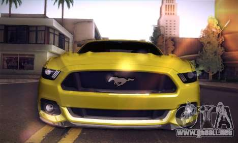 Ford Mustang 2015 Swag para GTA San Andreas vista hacia atrás