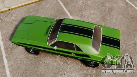 Dodge Challenger 1971 v2 para GTA 4 visión correcta