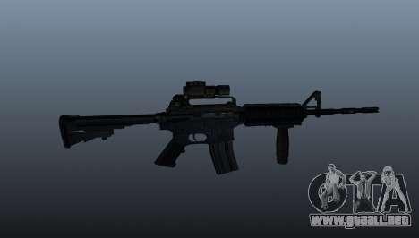 Automático carabina M4A1 Grip para GTA 4 tercera pantalla