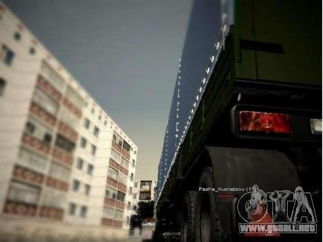 KAMAZ 54115 para GTA San Andreas vista posterior izquierda