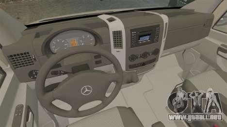 Mercedes-Benz Sprinter 2500 2011 v1.4 para GTA 4 vista hacia atrás