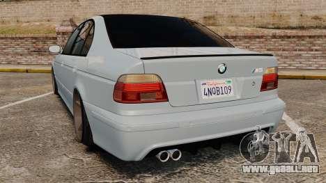 BMW M5 E39 2003 para GTA 4 Vista posterior izquierda