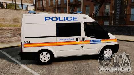 Ford Transit 2013 Police [ELS] para GTA 4 left