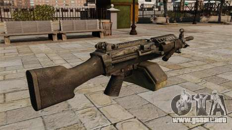 La ametralladora M249 ligera para GTA 4 segundos de pantalla