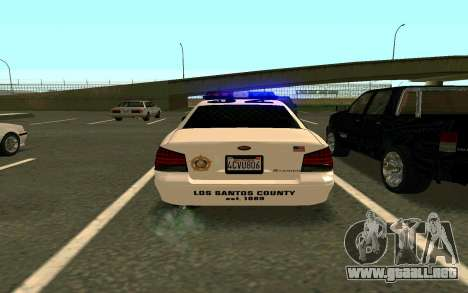 GTA V Sheriff Cruiser para GTA San Andreas left