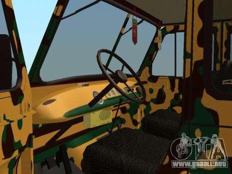 UAZ 469 Camo para GTA San Andreas vista hacia atrás