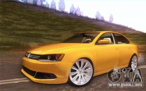 Volkswagen Vento 2012 para GTA San Andreas vista hacia atrás