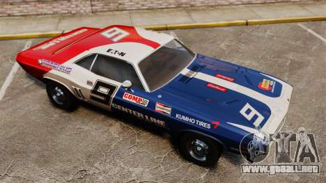 Dodge Challenger 1971 v2 para GTA 4 vista superior