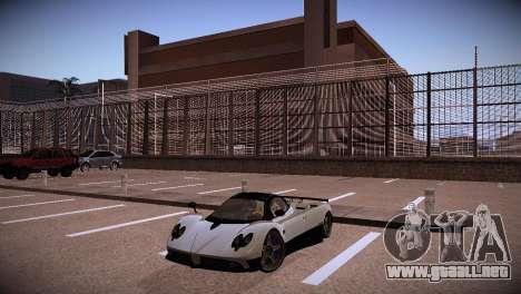 Pagani Zonda para GTA San Andreas vista hacia atrás