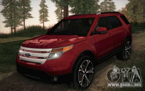 Ford Explorer 2013 para GTA San Andreas left