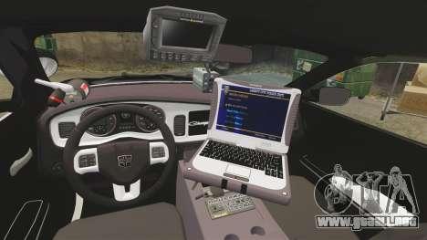 Dodge Charger 2013 LCPD STL-K Force [ELS] para GTA 4 vista hacia atrás