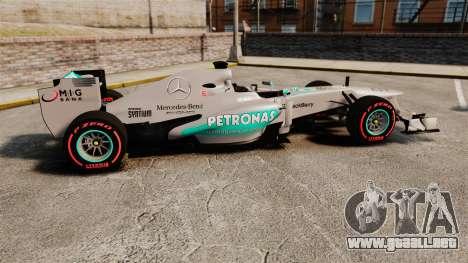 Mercedes AMG F1 W04 v6 para GTA 4 left