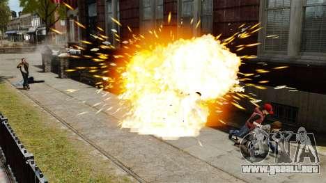 Balas explosivas para GTA 4 adelante de pantalla
