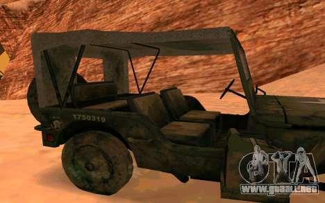 Willys MB v ju2 para GTA San Andreas vista posterior izquierda