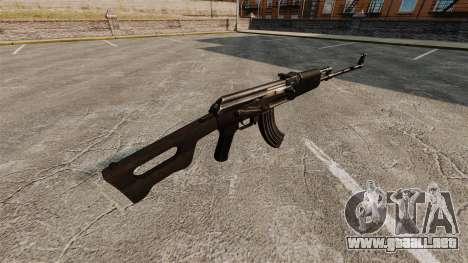 Ametralladora Kalashnikov ligera para GTA 4 segundos de pantalla