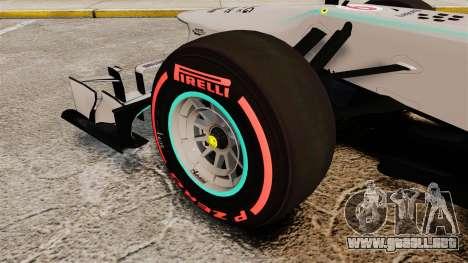 Mercedes AMG F1 W04 v6 para GTA 4 vista hacia atrás