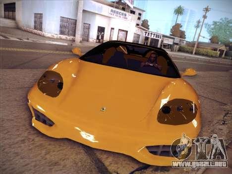Ferrari 360 Spider para GTA San Andreas vista posterior izquierda