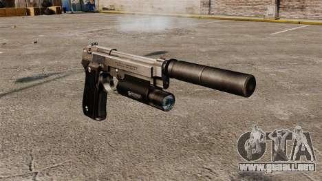 Pistola semiautomática Beretta 92 con silenciado para GTA 4