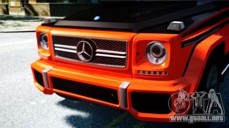 Mercedes-Benz G65 AMG 2013 para GTA 4 Vista posterior izquierda