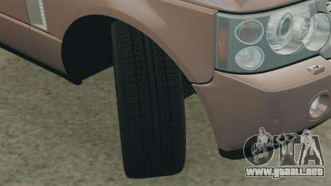 Range Rover TDV8 Vogue para GTA 4 vista lateral