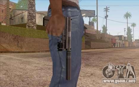 Pistola con silenciador para GTA San Andreas tercera pantalla