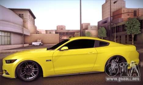 Ford Mustang 2015 Swag para GTA San Andreas vista posterior izquierda