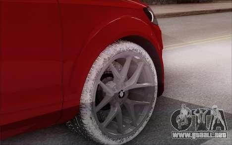 Audi Q7 Winter para GTA San Andreas vista posterior izquierda