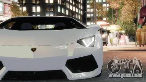 Lamborghini Aventador LP700-4 [EPM] 2012 para GTA 4 vista hacia atrás