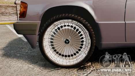 Mercedes-Benz E190 W201 para GTA 4 vista hacia atrás