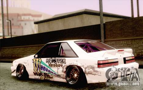 Ford Mustang SVT Cobra 1993 Drift para GTA San Andreas left