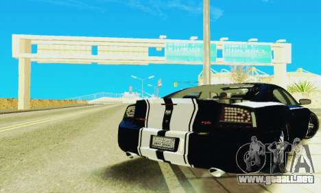 Dodge Charger DUB para GTA San Andreas vista hacia atrás