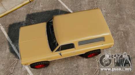 Chevrolet Blazer K5 1972 para GTA 4 visión correcta