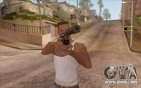 Pistola con silenciador para GTA San Andreas segunda pantalla