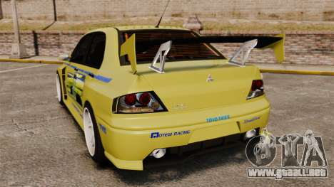 Mitsubishi Lancer Evolution IX 2006 tuning 2f2f para GTA 4 Vista posterior izquierda