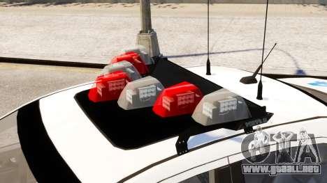 Ford Fusion LCPD 2011 [ELS] para GTA 4 visión correcta