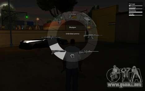 GTA V Weapon Scrolling para GTA San Andreas