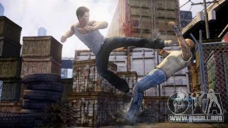 Arranque pantalla Sleeping Dogs para GTA 4 adelante de pantalla