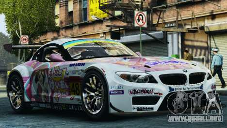 BMW Z4 GT3 2010 para GTA 4 interior