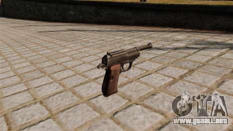 Pistola Walther P38 para GTA 4 segundos de pantalla