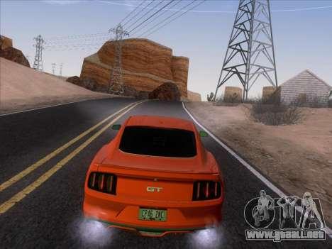 Ford Mustang GT 2015 para la vista superior GTA San Andreas