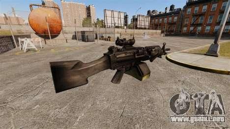 Ametralladora ligera de FN Mk 46 para GTA 4 segundos de pantalla